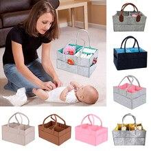 CALOFE Felt Cloth Storage Bag Foldable Baby Large Size Diaper Caddy Ch
