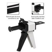 Ratio Dental Mixing Dispensing Universal Dispenser Gun Silicon Rubber Dispenser Gun10:1/4:1 50ml Teeth Whitening kit set