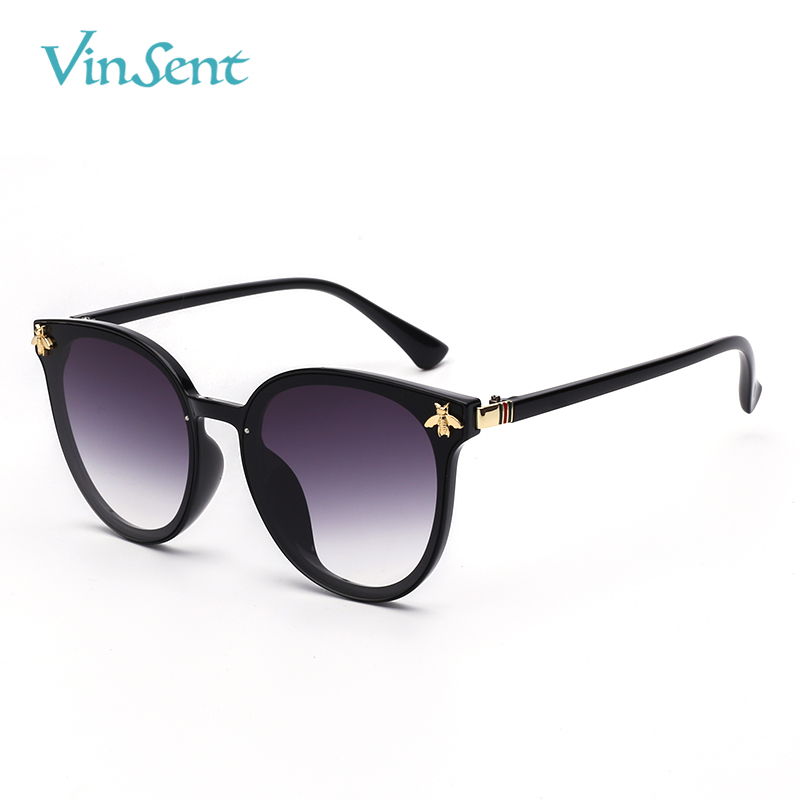 VinSent Female Sunglasses Vintage Gradient AC Lens Sun Glasses Shades Female Brand Designer PC Frame Sunglass For Women