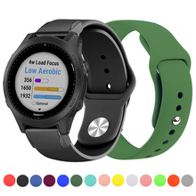 Laforuta Silicone for Fenix 5 Band 26mm 22mm Quick Release Rubber Strap Easy Watchband Garmin Forerunner 945 935 Wristband