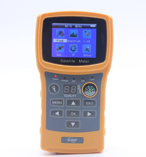 SF-710 DVB-S2 FTA C&KU Band Satellite Finder Meter Satlink 6933 WS-6923 With 2.1 Inch LCD Display