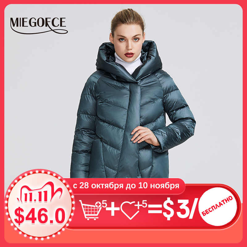 MIEGOFCE 2020 겨울 자켓 여성 컬렉션 특이한 디자인과 색상의 따뜻한 자켓 겨울 코트는 매력과 우아함을 제공합니다