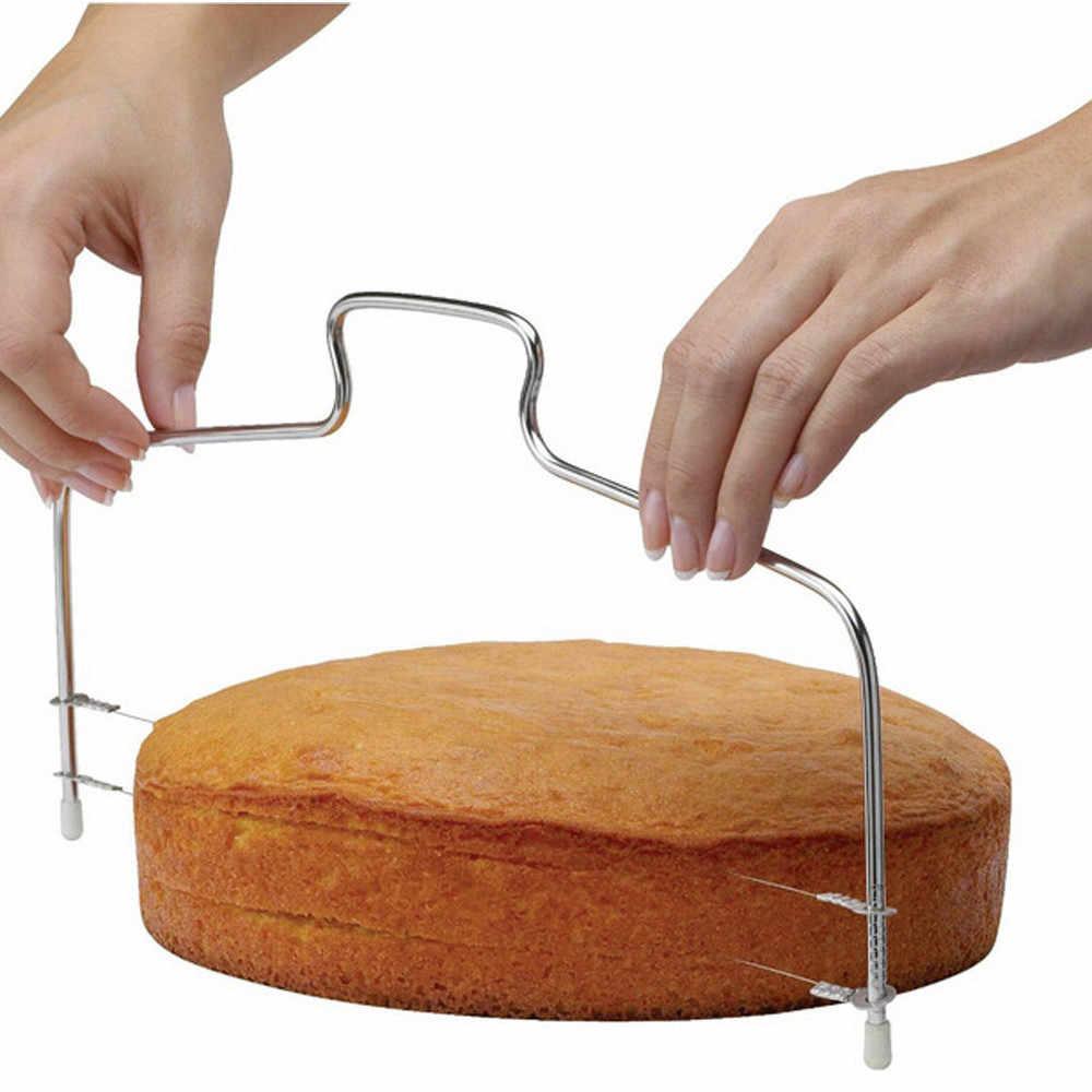 Cortador de masa de Pizza nivelador de rebanadora de torta de alambre ajustable herramientas de corte de torta inoxidable herramienta de alta capacidad Dropship 2019