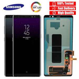 Image 1 - 100% SUPER AMOLED 6.3 LCD with Burn Shadow LCD for SAMSUNG Galaxy Note8 N9500 N950F N900D N900DS LCD Touch Screen Digitizer