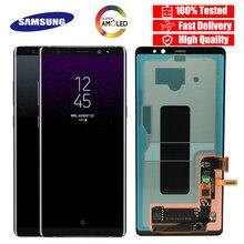 Pantalla LCD SUPER AMOLED para SAMSUNG Galaxy note 8, N9500, N950F, N900D, N900DS, 100%
