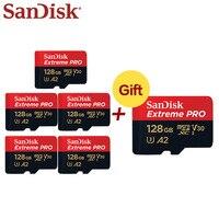 5 + 1 64GB Micro SDXC SanDisk Extreme Pro A2 UHS-I 32GB TF Cartão De Memória Micro SD Card cartão Class10 U3 Com Adaptador SD Para O Telefone