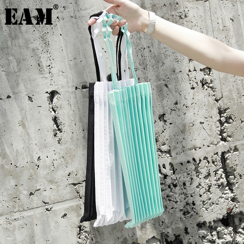 [EAM] Women New Multicolor Black Pleated Split Joint Personality Accessories Fashion Tide All-match Spring Summer 2020 JL460
