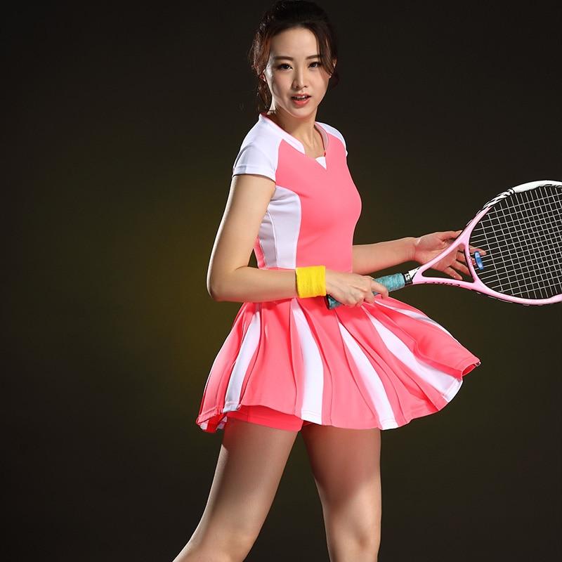 Sport Badminton Women Dress Fast Dry Short Sleeve Table Tennis Women's Suit Tennis Dress Summer Jersey