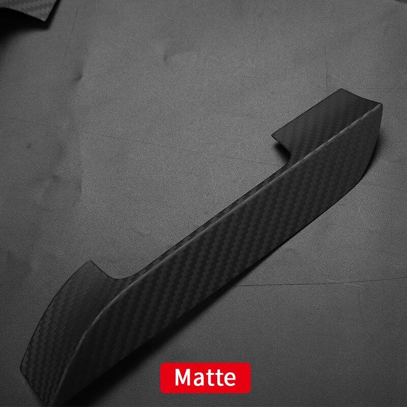 Cubierta de la manija para el coche tesla modelo s tesla 2018 Modelo s tesla accesorios para el coche tesla modelo s fibra de carbono exterior - 6