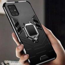 Чехол для Samsung A31, армированный чехол из поликарбоната, держатель с кольцом на палец, чехол для телефона Samsung Galaxy A31, чехол для 31, задняя крышка ...