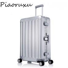 100% toda a liga de alumínio bagagem hardside rolando trole bagagem mala de viagem 20 carry on bagagem 26 29 polegada bagagem verificada
