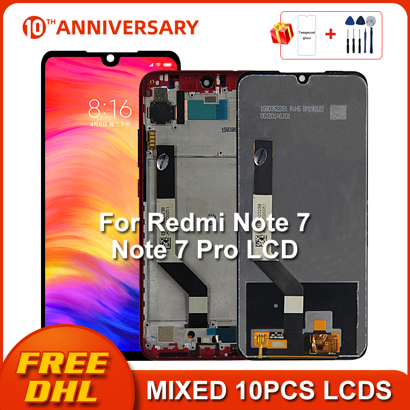 Original For Xiaomi Redmi Note 7 LCD Display Screen Touch Digitizer Assembly For Redmi Note7 Pro LCD 10 Touch Repair Parts