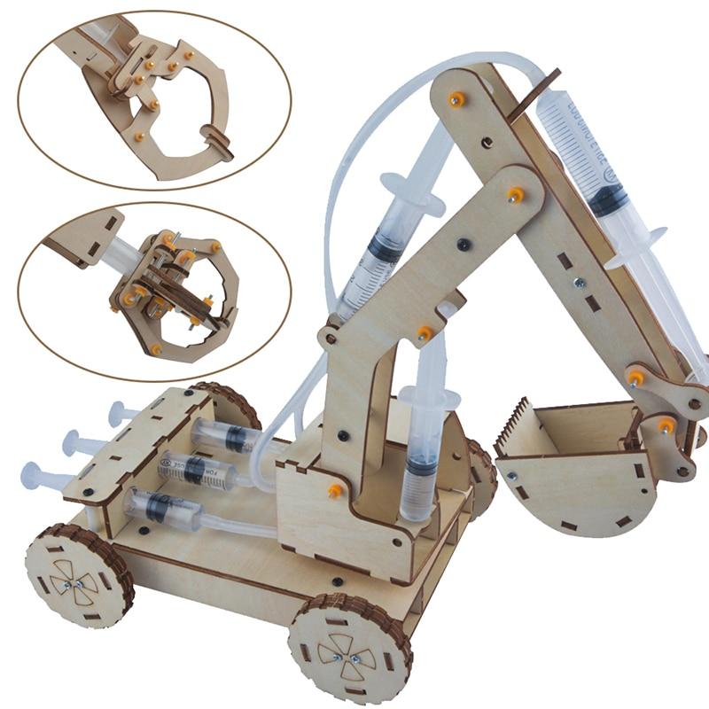Juego de construcción de Excavadora hidráulica para niños, juguete técnico de construcción con excavadora hidráulica, rompecabezas pintado