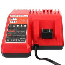18V Lithium Battery Charger Replacement for Milwaukee Li-ion Battery M12 M18 EU Plug 220V Solar Panel System(China)
