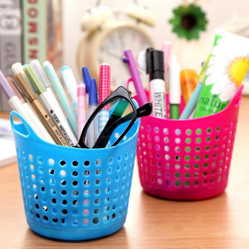 1 Pcs Hot Sale Hollow Pen Storage Box Pencil Brush Pot Pen Holder Container Desk Office Organizer Desktop Supply Stationery