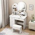 Туалетный столик с выдвижным ящиком  туалетный столик с мягким табуретом  косметический стол для спальни