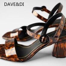 Withered 2020 zapatos de verano Mujer Zapatos mujeres sandalias ins high street zapatos de tacón vintage tacones de Mujer Sandalias de leopardo mujeres
