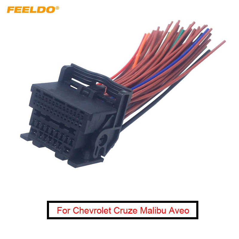 FEELDO Car Radio Audio 44Pin Wiring Harness Adapter For Chevrolet Cruze  Malibu Aveo ISO CD/DVD Stereo Installation Cable Cables, Adapters &  Sockets  - AliExpress   Chevrolet Radio Wiring Harness Adapter      AliExpress