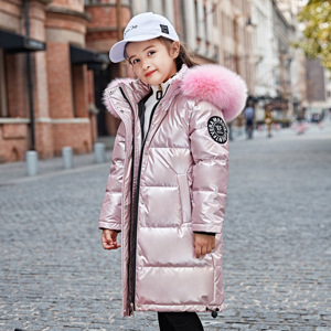 Image 5 -  30 degrees winter down jacket girls clothes 2020 Children Clothing kids boys outerwear coats parka real fur waterproof snowsuit