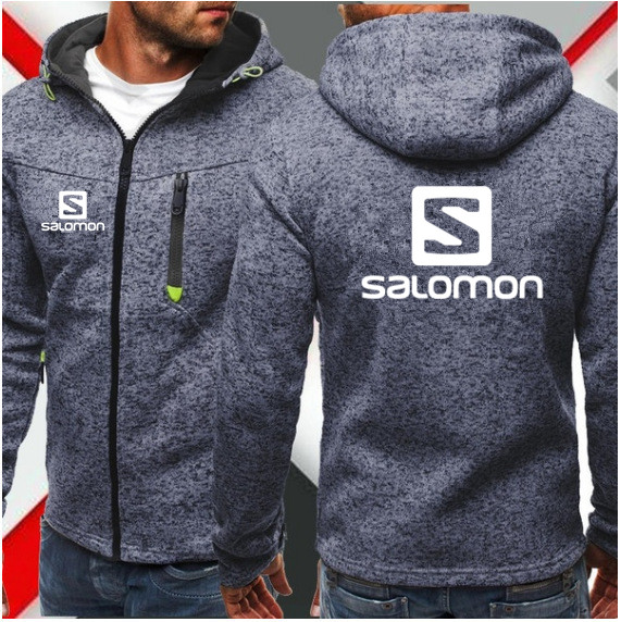2019 New Fashion Hoody Jacket Salomon Printed Men Hoodies Sweatshirts Casual Hooded Coat Cardigan Plus Fleece Brand Clothing