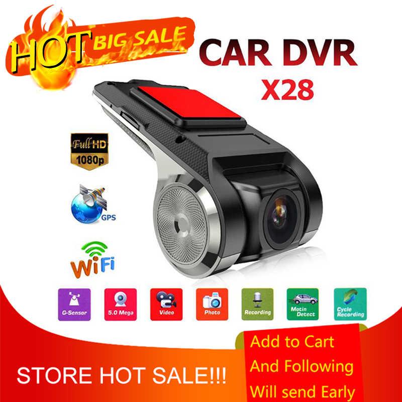 Anytek x28 1080 p hd wifi carro dvr câmera gravador de vídeo 1g dvr adas g-sensor do carro traço câmera eletrônica suporte 32g tf cartão