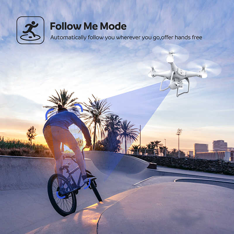 Potensic T25 rcドローン 1080 1080p wifi fpv hdカメラ高度ホールド 1 キー · リターン/着陸離陸/ヘッドレスrc quadcopterドローン