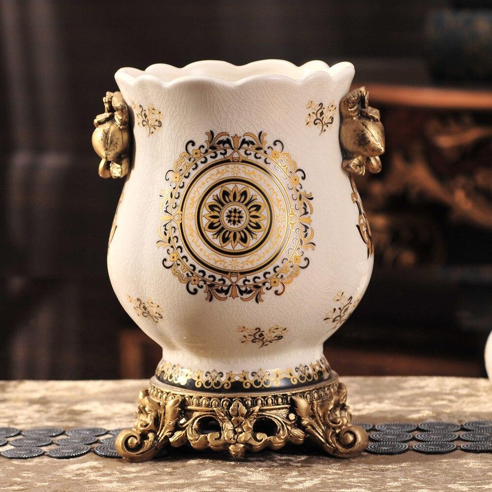 Рождественское свадебное украшение европейские керамические изделия, вазы, креативная домашняя мебель, вазы, цветочные горшки, керамическ... - 4