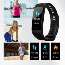 Y5 pulseira inteligente tela colorida freqüência cardíaca pressão arterial de oxigênio no sangue monitoramento saúde pedômetro relógio inteligente