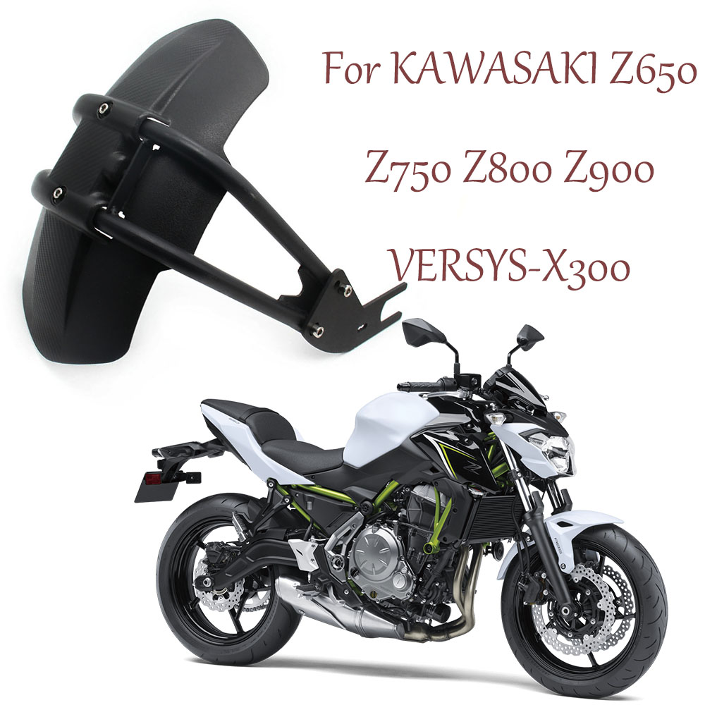 For KAWASAKI VERSYS-X300 Z 650 Z650 Z750 Z800 Z900 750 800 900 Motorcycle Fender Rear Cover Back Mudguard Splash Guard Protector