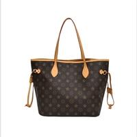 WOMEN'S Bag Fashion Large Capacity Toth Printed Handbag Shoulder Presbyopia Large Shopping Bag Factory Direct
