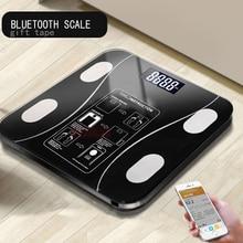 AIWILL бытовой светодиодный цифровой весы для ванной с Bluetooth Android или IOS весы для жировых отложений