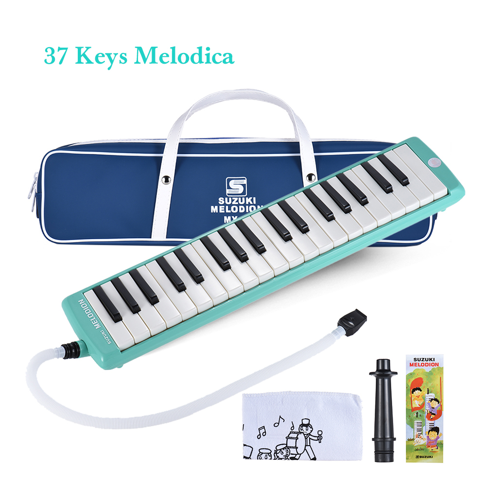32 37 Keys Green Suzuki Alto Professional Melodion Melodica With Leather Bag Or Carrying Case