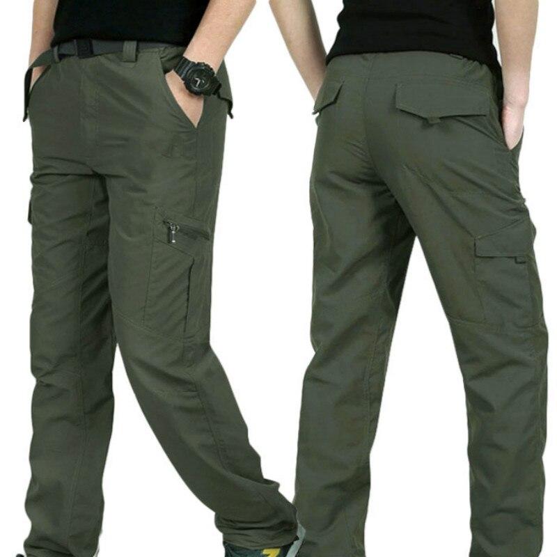 Outdoor Quick Dry Hiking Pants Men Summer Mountain Climbing Fishing Trousers Army Trekking Sport Waterproof Pants