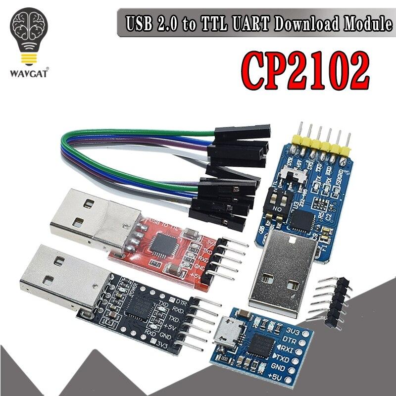 CP2102 5PIN Módulo Conector Conversor Serial USB 2.0 para TTL UART STC Substituir FT232 CH340 PL2303