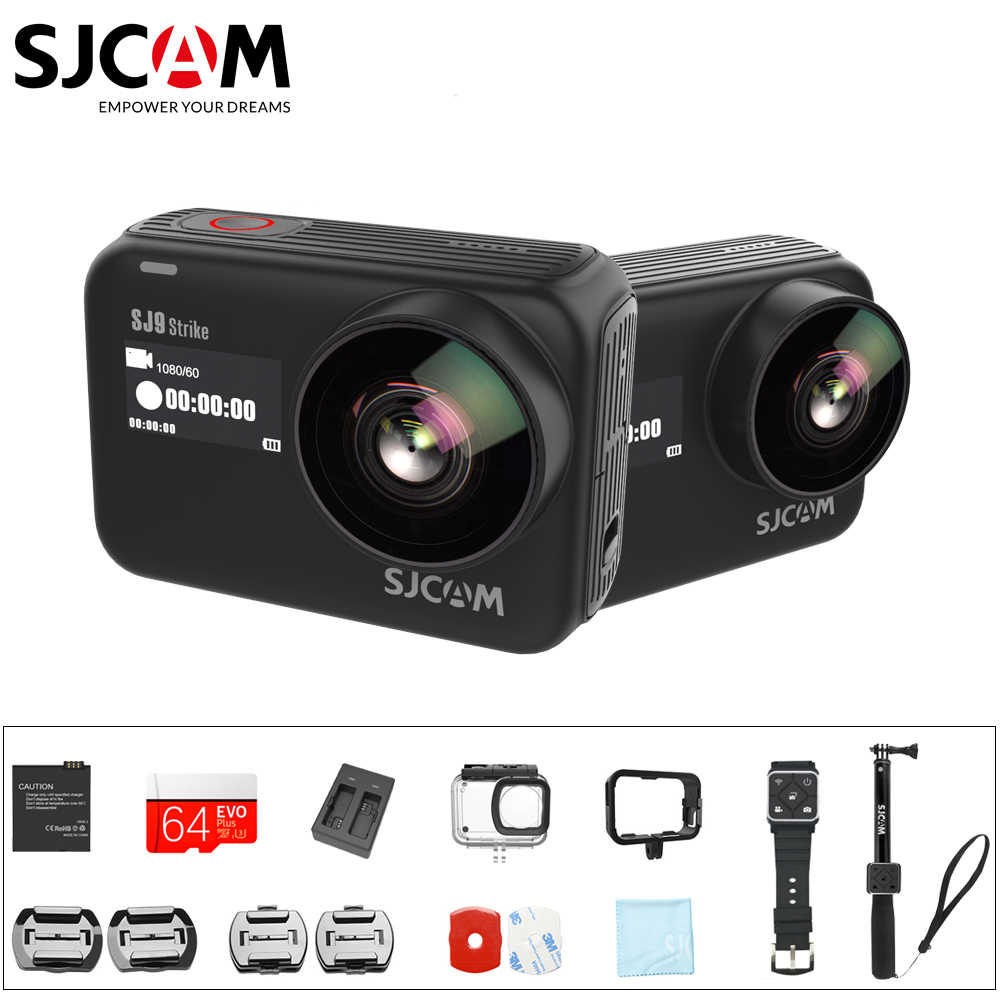 Original SJCAM SJ9 STRIKE Wasserdichte Action Kamera Touchscreen 4K / 60FPS Live Streaming Gyro / EIS Stabilisierung Wireless Charging