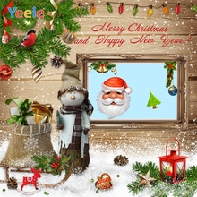 Yeele Christmas Photocall Snowman Santa Claus Chalet Photography Backdrops Personalized Photographic Background For Photo Studio