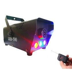 Bezprzewodowy pilot LED maszyna do dymu 500W z światła LED RGB  LED maszyna do mgły na imprezę DJ KTV efekt  etap wyrzutnik dymu