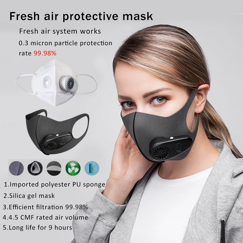 PM2.5 Mask KN95 Coronavirus Protective Electric Mask Dust Mask Filter Mask Air Purification Mask Anti-Pollution Fog Respirator