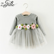 ZAFILLE Baby Girl Clothes Newborn Baby Summer Dress Flower Mesh Toddler Girls Princess Infant Clothing Patchwork Kids Clothes cute baby girls flower princess sleeveless dress sundress for newborn baby girl infant children clothes kid clothing summer