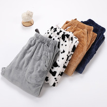 Fdfklak M-XXL Large Thicken Warm Women's Trousers Winter Flannel Pants For Pajama Bottoms Multiple Styles Couple Lounge Wear