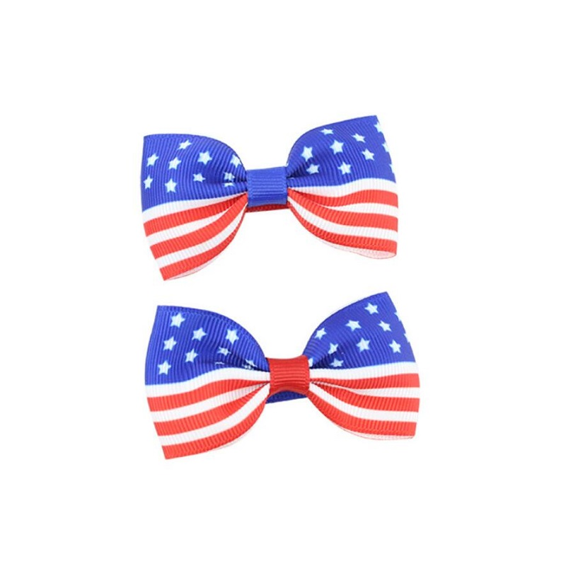American flag Hair Barrettes Bowknots Fashion Hair Accessories Hair Clips Hair Accessories Grooming Product For Girls and Women