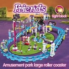 37011 ladrillos compatibles Legoinglys Amigos Parque de diversiones bloques Montaña Rusa figura juguetes modelo hobbi niños niñas