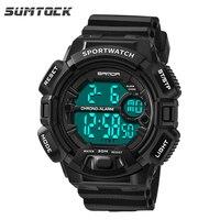 Black Sports Men Digital Watches Fashion Led Luminous 3M Waterproof Shock Resistant Male Wrist Watches Chronograph Clock