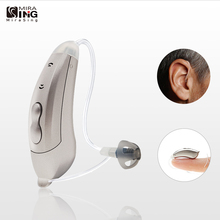Mini RIC Digital 6-Channels Hearing Aid Sound Amplifiers BTE Wireless Moderate to Severe Loss Hearing Amplifier for Elderly
