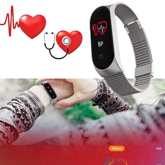 Fashion Stainless Steel Smart Watch Women Men Ladies Wrist Watch For Andriod Ios Smart Clock Fitness Tracker Sport Smartwatch