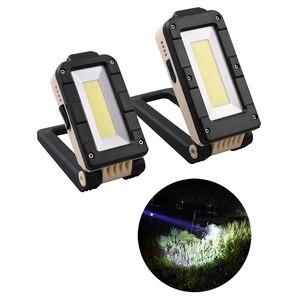 Image 1 - Cob portátil conduziu a luz do trabalho tocha magnética usb recarregável conduziu a luz trabalho cob lâmpada de inspeção para garagem carro oficina caminhadas