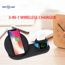 BSYDZKJGS Wireless Charger,3 in 1 Wireless Charging Stand for Apple Watch,Charging Station for Airpods,Fast Wireless Charger Doc