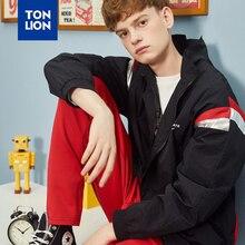 TONLION Stand Collor Casual Jackets Sport Men Spliced Full Sleeve Short Coats Men Fashion Men's Outerwear Zipper Spring 2020 New