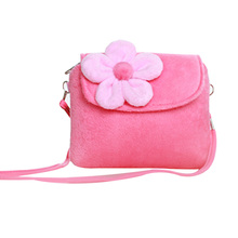 New Kids Plush Flower Handbag Small Purse Shoulder Bag Gifts For Little Girls 2020 Fashion Crossbody Bags For Girls Bolsos Mujer
