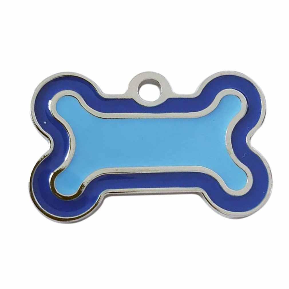 สุนัข ID แท็กแกะสลักโลหะที่กำหนดเองแท็กสัตว์เลี้ยงขนาดเล็กสุนัขขนาดใหญ่อุปกรณ์เสริมส่วนบุคคล Bone Paw ชื่อ: แผ่นปกตกแต่ง